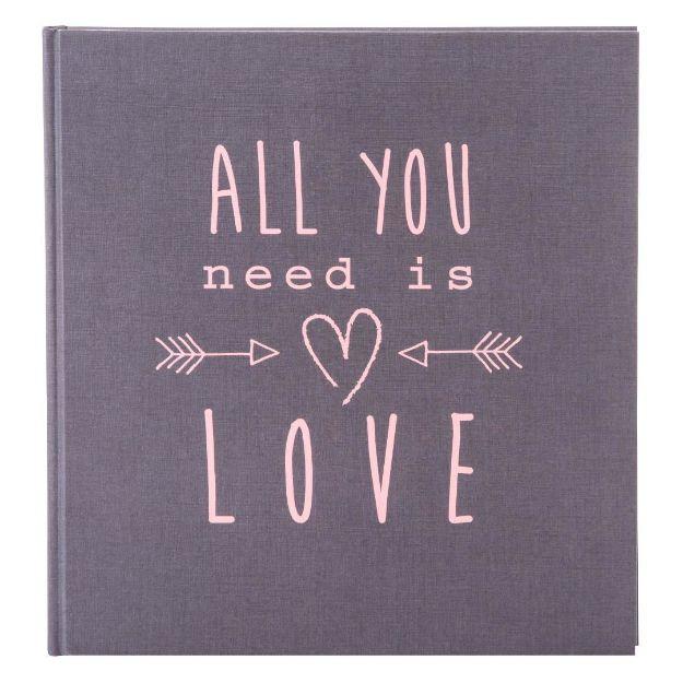 Slika od FOTO ALBUM GOLDBUCH ALL YOU NEED IS LOVE - GREY 30X31 60 STRANI BELIH