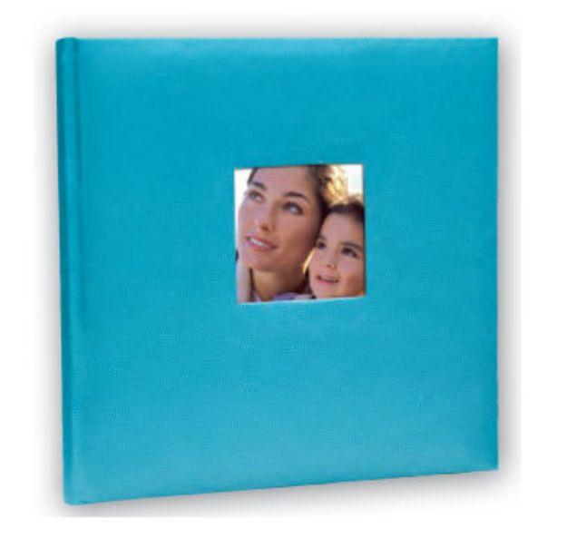 Slika od FOTO ALBUM ZEP  COTTON 24X24 20 STRANI LIGHT BLUE OL242420