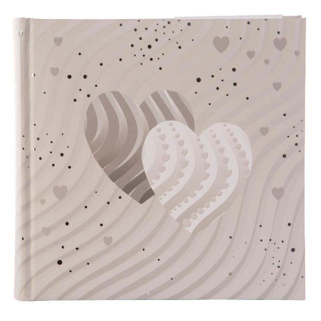 Slika od FOTO ALBUM GOLDBUCH SILVER HEARTS 10X15CM 200 SLIK
